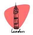 London the capital of England vector image
