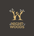 modern professional sign logo night woods vector image