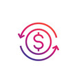 money transfer convert icon vector image vector image