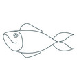 monochrome contour of salmon fish vector image vector image