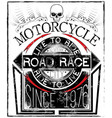 motorcycle racing typography graphics and poster vector image vector image