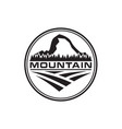mountain trees and field logo design template vector image