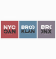 new york city stylish t-shirt and apparel vector image vector image