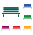 outdoor park wooden bench vector image