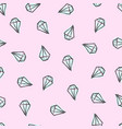 pattern with diamonds pink background vector image