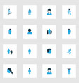 person colorful icons set collection of client vector image vector image