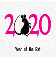 rat mouse as symbol for year 2020 chinese trad vector image vector image