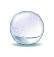 realistic transparent glass sphere vector image