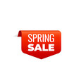red banner ribbon top bookmark spring sale vector image vector image