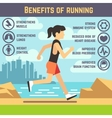 Running female jogging women cardio exercise vector image vector image