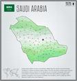 Saudi Arabia map in geometric polygonal style vector image vector image