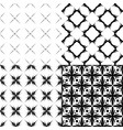 seamless monochrome patterns set vector image vector image