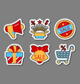 season sale icon sticker set clearance flat style vector image vector image