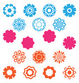 set flower icon vector image vector image