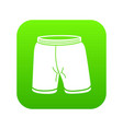 shorts icon green vector image vector image