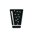 Soda in simple black vertical glass icon vector image