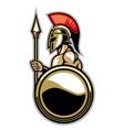 spartan courage soldier vector image vector image