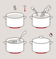 steps how to cook vector image vector image