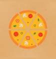 tasty pizza pizza sliced into vector image vector image