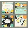 trendy set brush strokes cards vector image