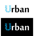 urban label title caption on white and black vector image