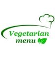 vegetarian menu background vector image vector image