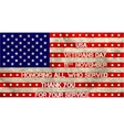 veterans day flag vector image vector image