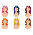 Wavy Hair Style vector image vector image
