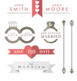 Wedding Icons and accessories vector image vector image