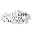 what is my home worth text word cloud concept vector image vector image