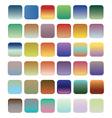 36 blank web gradient button vector image vector image