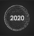 abstract 2020 new year mesh background futuristic vector image