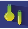 Abstract chemistry icons isolated on colored vector image