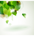 abstract green foliage with light effects vector image vector image