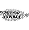 adware why is it different text word cloud concept vector image vector image