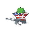 army usa star isolated with cartoon shape