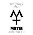 astrology asteroid metis vector image vector image