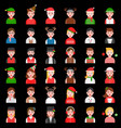 avatar in winter and christmas theme various vector image vector image