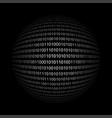 binary code in sphere form vector image