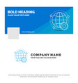blue business logo template for connected online vector image