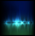 blue-green wave abstract equalizer background vector image