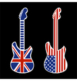 British and American Rock and Roll Guitars vector image vector image