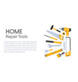carpentry and building professional fix equipment vector image