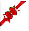 Christmas red bow vector image vector image