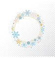 circle snowflake frame christmas design vector image
