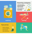 Cleaning company banners set vector image vector image