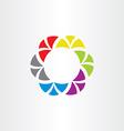 colorful abstract logo business circle symbol tech vector image vector image