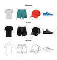 design of man and clothing icon collection vector image