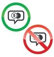 Dollar coin message permission signs vector image vector image