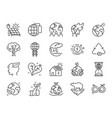 ecology line icon set vector image